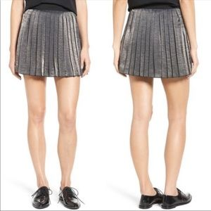 NWT Madewell Pleated Shimmering Mini Skirt Size 12